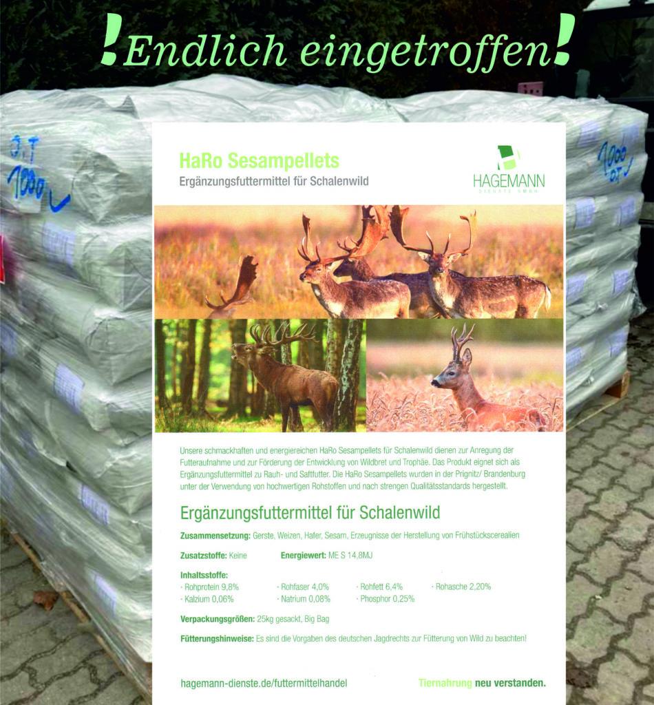 S3 Sesampellets (Ergänzungsfuttermittel) 25kg = 21,-€